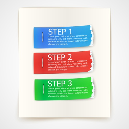 torn paper edge: steps design on torn edge paper stickers