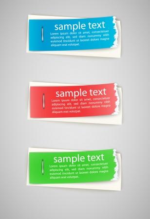 copyspace: torn edge paper stickers