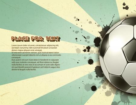 fotbalový míč na vinobraní pozadí EP10 Ilustrace