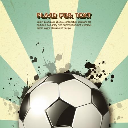 buiten sporten: voetbal op vintage achtergrond Stock Illustratie