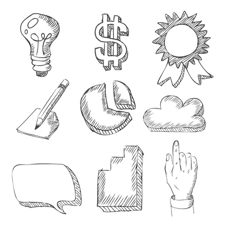 web icons hand drawn on white Stock Vector - 19397252