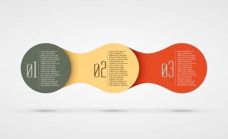 abstract vector achtergrond met infographic stappen illustratie Stock Illustratie