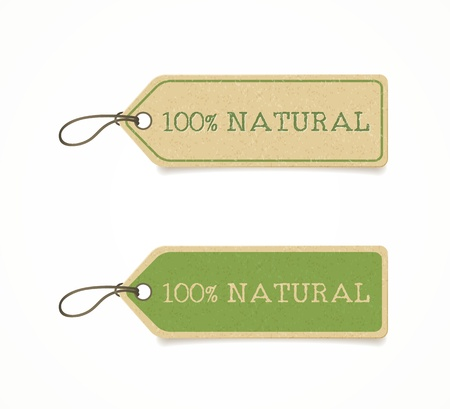 basura organica: conjunto de etiquetas de eco amigable Vectores