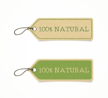 set van eco vriendelijke etiketten