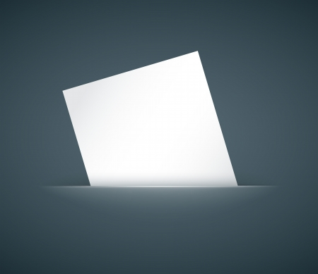 inserted: hidden empty paper card