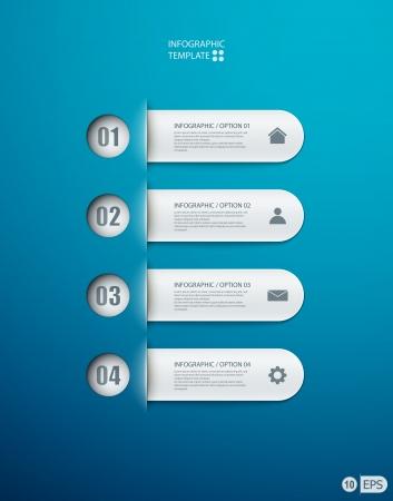 Možnosti infografiky banner pro rozvržení pracovního postupu, schéma, možnosti číslo, web design. ilustrace