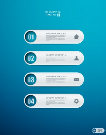 infographics options banner for workflow layout, diagram, number options, web design.  illustration Stock Vector - 19392429