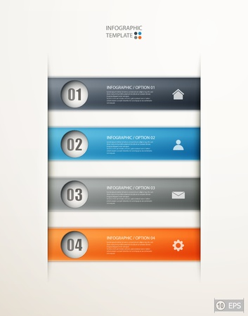 infographics options banner for workflow layout, diagram, number options, web design.   illustration Stock Vector - 19392594