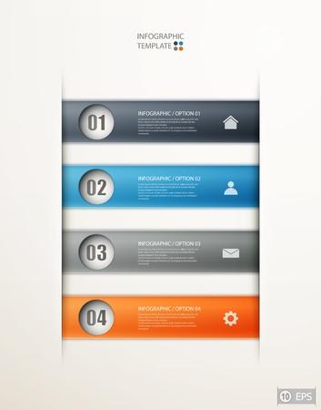 infographics options banner for workflow layout, diagram, number options, web design.   illustration