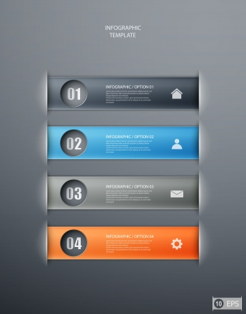 infographics options banner for workflow layout, diagram, number options, web design.  illustration Stock Vector - 19397342