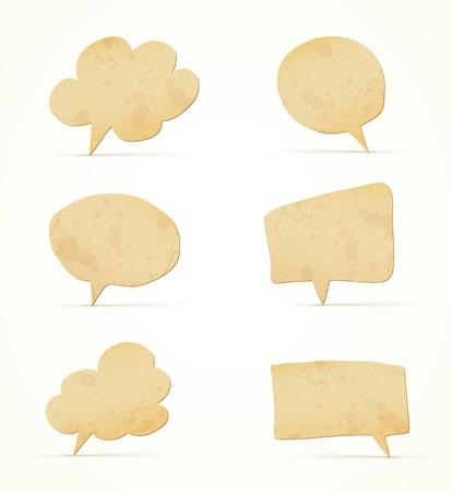 papier tekstballonnen set Stock Illustratie
