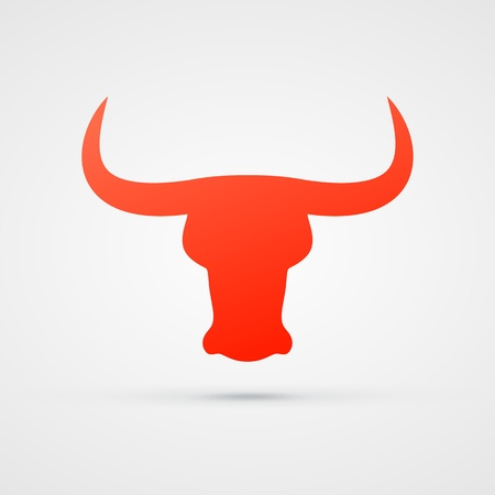 bull head: red bull icon design  illustration