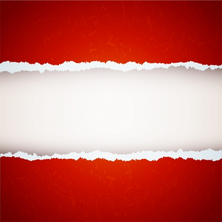 red ripped paper Vector