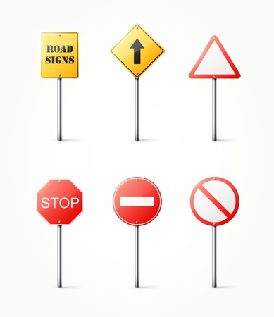 road sign: Set of road signs illustration