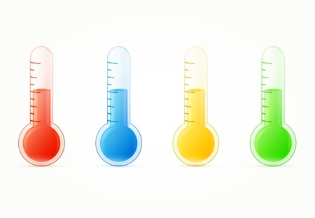 thermometers colorful set  illustration Stock Vector - 19392421