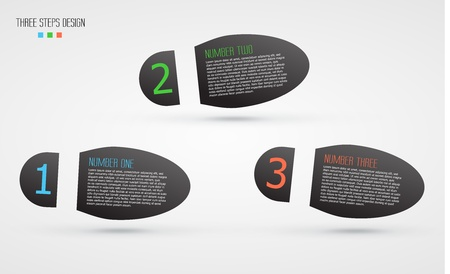 vector background with infographic steps  illustration Illustration