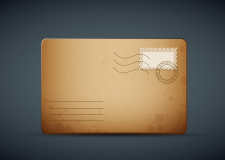 old envelope: vector of an vintage old envelope card  illustration