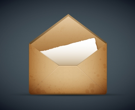 enveloppe ancienne: vecteur d'une vieille illustration de cru d'enveloppe