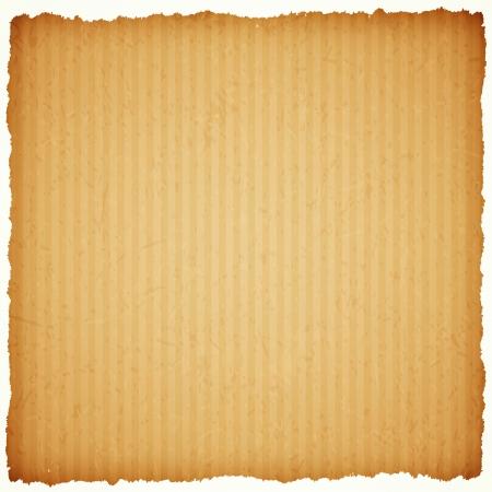 cardboard paper frame with torn edges Illustration