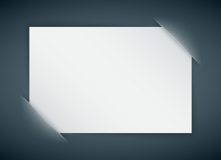 blank banner: empty paper card