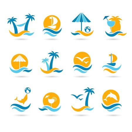 Pláž ikony
