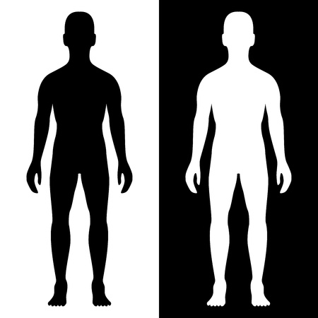 body silhouette: man body silhouette eps8