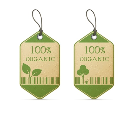 recycled paper: set of two eco labels