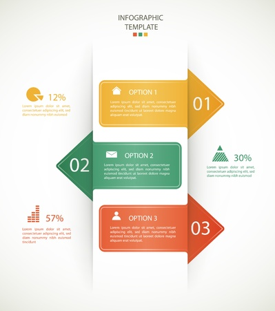 infographics options banner for workflow layout, diagram, number options, web design.  向量圖像