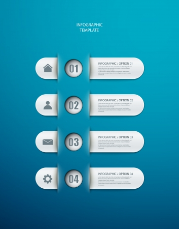infographics options banner for workflow layout, diagram, number options, web design.  Vector