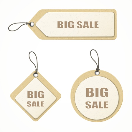 set of big sale paper labels