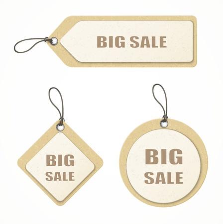set of big sale paper labels