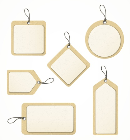 tag: set of paper labels  Illustration