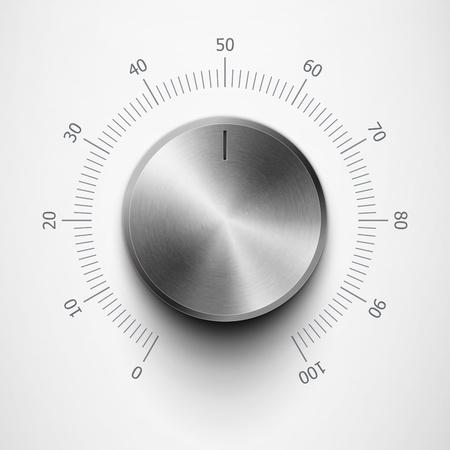 regulátor hlasitosti s kovovou texturou a rozsahu eps10