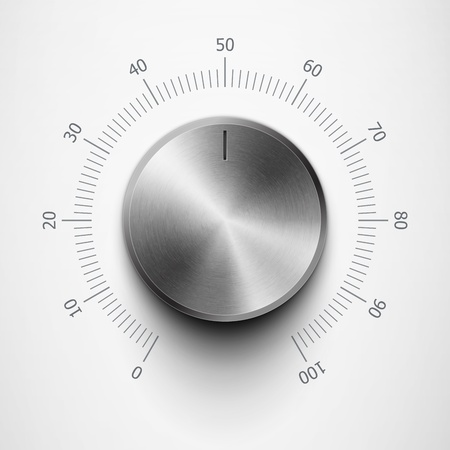 volume knob with metal texture and scale eps10 Illustration