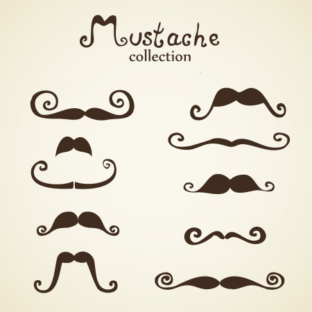 shave: Hand drawn mustaches set eps8 Illustration