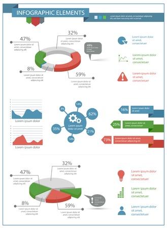 detailní infographic prvky stanovené s grafikou a grafy eps10 Ilustrace