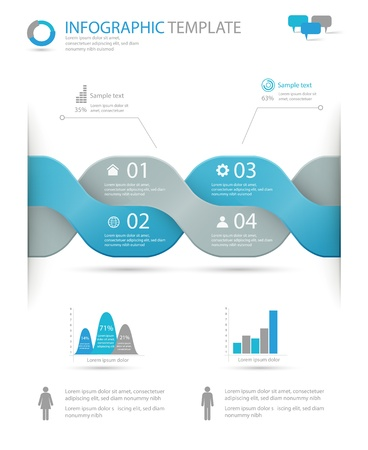 infographic options template Stock Vector - 20322665