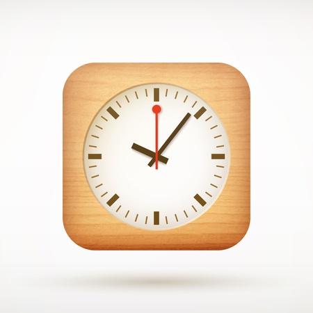 corner clock:  clock app icon on rounded corner square