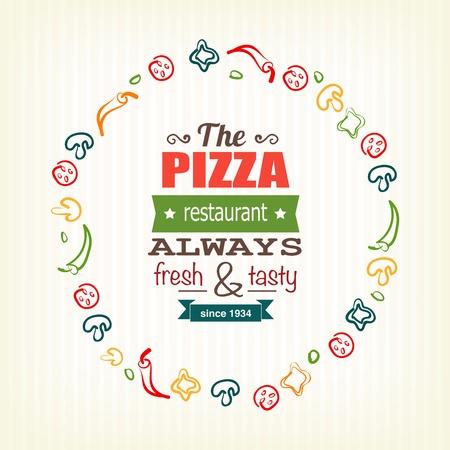 メニューのバナー、広告などのためのピザのデザイン テンプレート