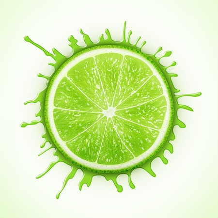 fresh lime with splash