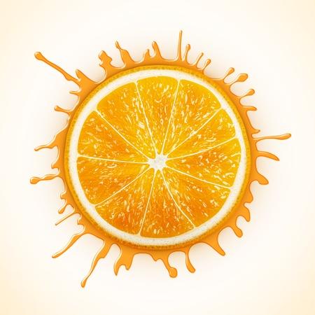 acid colors: fresh orange with splash