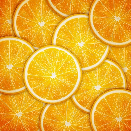 Orange tranches de fruits fond Banque d'images - 20856617