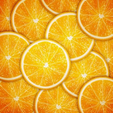 Rebanadas de la fruta Fondo naranja Foto de archivo - 20856617