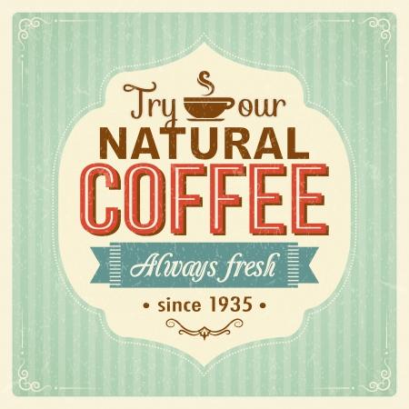 Vintage poster caffè con effetti grunge Archivio Fotografico - 20856647