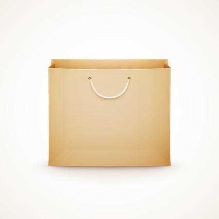 winkelen papieren zak op een witte achtergrond eps10 vector illustratie Stock Illustratie