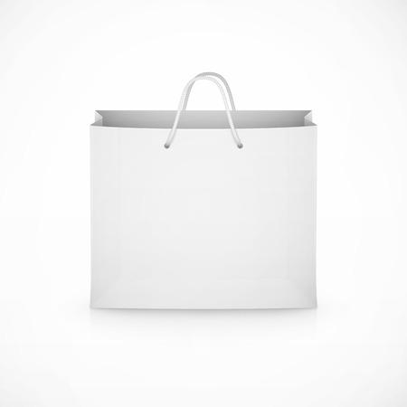 white paper bag: shopping paper bag on white background eps10 vector illustration Illustration
