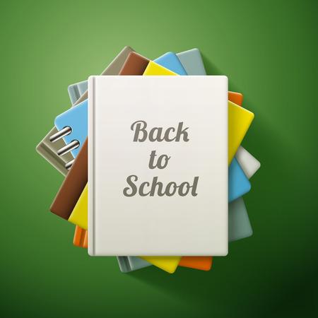 magazine stack: Stack of books, back to school. eps10 vector illustration Illustration