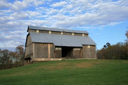 Barn On Hill Editorial