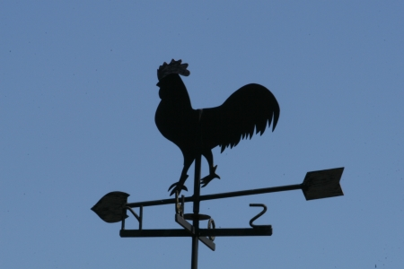 Weathervane in the form of a rooster photo