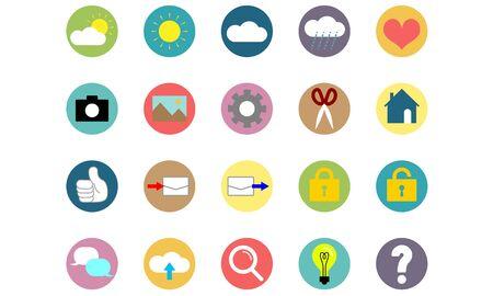 Set of icon illustrations
